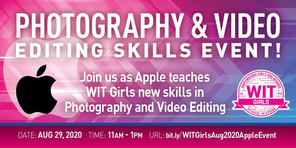 Wit Girls Apple Virtual Event Women In Technology